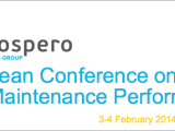 European Conference on Oil and Gas Maintenance Performance 2014